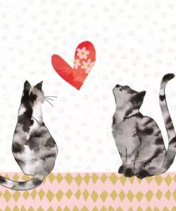 Șervețel - Cats in Love - 33x33 cm