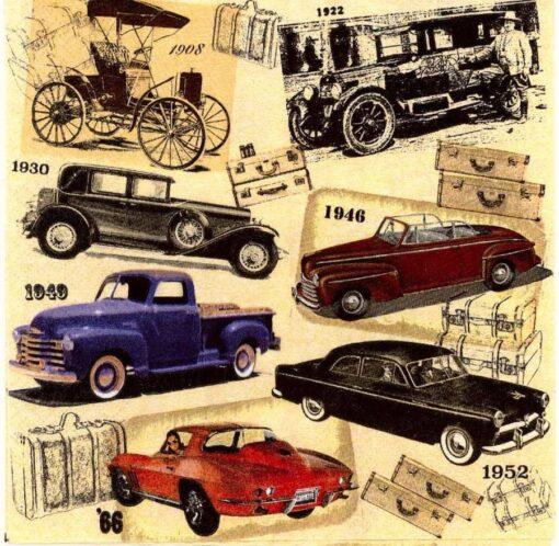 Șervețel - Classic Cars - 33x33 cm 1