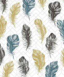 Șervețel - Coloured Feathers - 33x33 cm