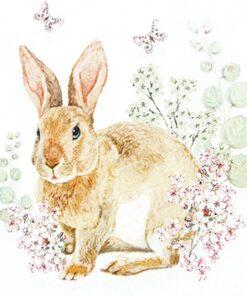 Șervețel Decoupage - Rosi Rabbit - 33x33 cm