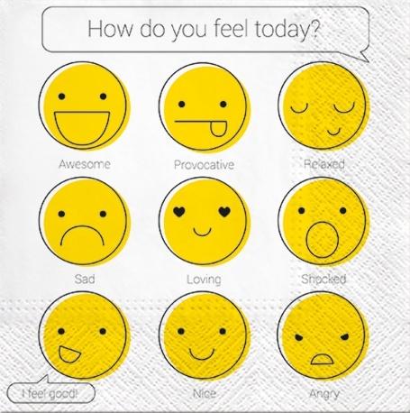 Șervețel - How Do You Feel - 33x33 cm