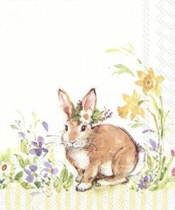 Șervețel - Lovely Bunny Yellow - 33x33 cm