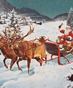 Șervețel - Plimbarea de Crăciun - 33x33 cm
