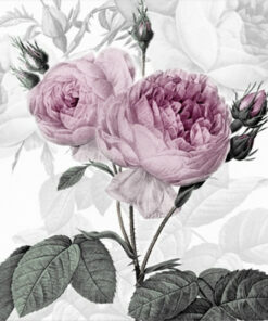 Șervețel - Purple Vintage Rose - 33x33 cm