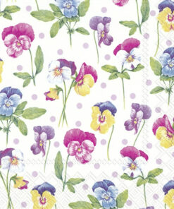 Șervețel - Purpple Pansy Light Lilac - 33x33 cm