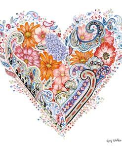 Șervețel - Spring Heart - 33x33 cm