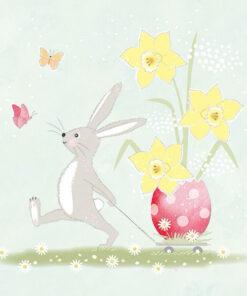Șervețel - Walking Easter Bunny - 33x33 cm
