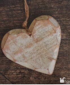 Șervețel - Wooden Heart - 33x33 cm