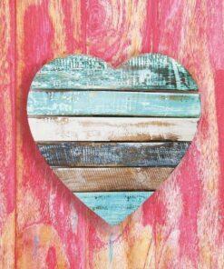 Șervețel - Wooden Heart Pink - 33x33 cm
