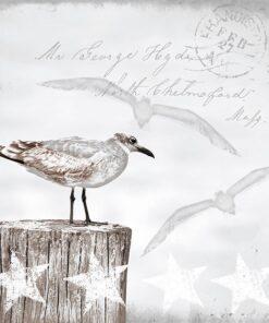 Șervețel decorativ - Seagulls - 33x33 cm