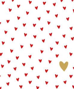 Șervețel - little Hearts - 25x25 cm