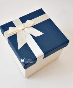 Cutie ambalaj - albastru - cu fundă