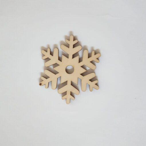 Fulg de nea – ornament din lemn - 5,5 cm 1