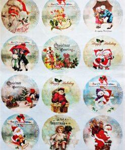 Hârtie de orez – Christmas Wishes - A3