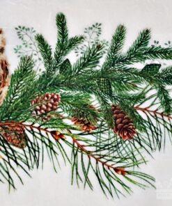 Hârtie de orez – Owl In Winter – A4
