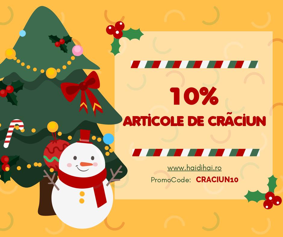 Reducere de 10% la articolele de Crăciun. 10