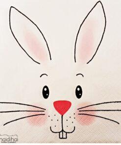 Șervețel - Beautiful rabbit - 33x33 cm