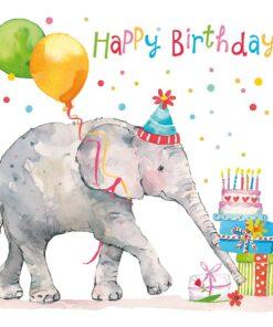Șervețel - Birthday Elephant - 33x33 cm