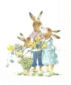 Șervețel Decoupage - Easter Family - 33x33 cm