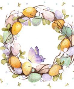 Șervețel Decoupage - Egg Wreath - 33x33 cm