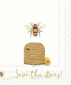 Șervețel Decoupage - Save The Bees - 33x33 cm