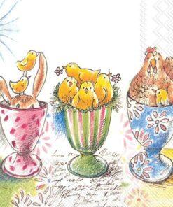 Șervețel - Easter Egg Cups - 25x25 cm