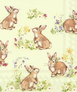 Șervețel - Sweet Lovely Bunnies - 33x33 cm