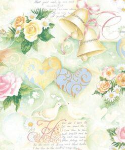 Șervețel - Wedding Bells Green - 33x33 cm