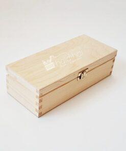 Cutie din lemn cu închizătoare - 24x10,5x7cm
