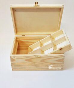 Cutie mare din lemn - bijuterii 2 - 28x21x13 cm