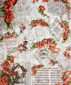 Hârtie de orez - DECOMANIA - Maci - 35x50 cm