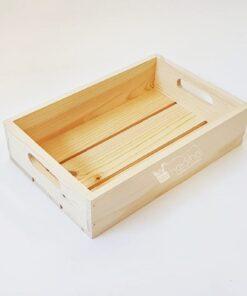 Lădiță din lemn cu mânere - 30x20 cm