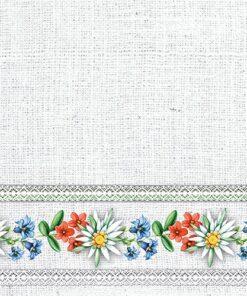 Șervețel - Bavarian Flowers Stone - 33x33 cm