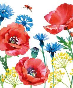 Șervețel - Cornflower and Poppy - 33x33 cm