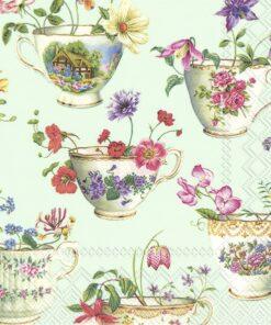 Șervețel - Cup Of Flowers Light - 33x33 cm
