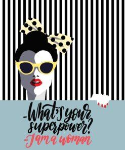 Șervețel Decoupage - Superwoman - 33x33 cm
