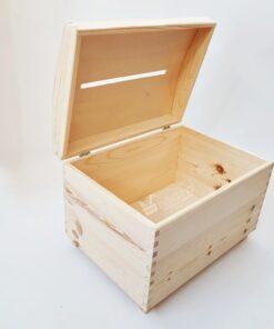 Cufăr lemn – card/plic nuntă – 35×25 cm