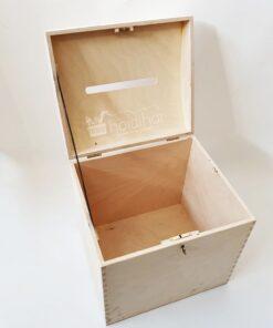 Cufăr lemn – card/plic nuntă – cheiță – 29×25 cm