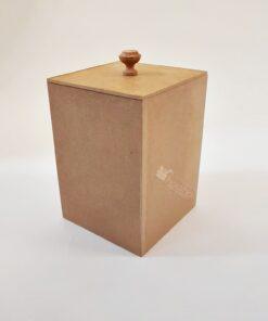 Cutie cafea/zahăr pentru decorat - MDF - h18
