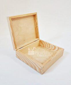 Cutie lemn natur – blank – 19×16,5 cm