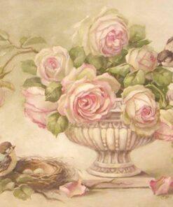 Hârtie de orez – Vintage Roses – A5