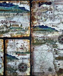 Hârtie de orez – World Map – Vintage – A3