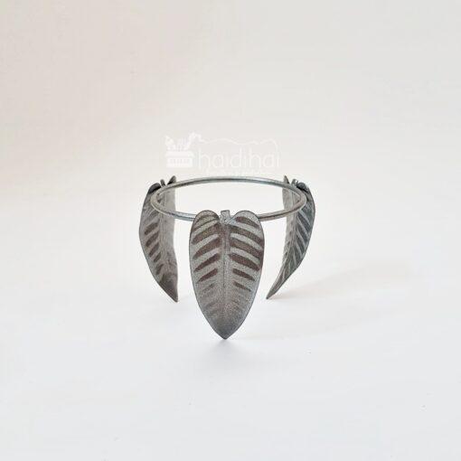 Suport metalic argintiu - model frunză