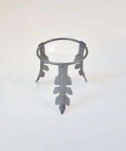 Suport metalic pentru ouă argintiu - 75 mm