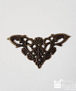 Buton - mâner metalic decorativ - 4x4x0,1