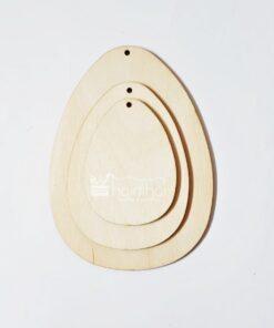 Ou plat din lemn - set de 3 bucăți