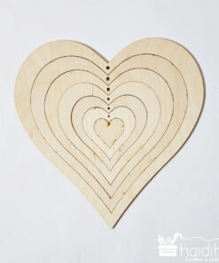 Set formă inimă - placaj