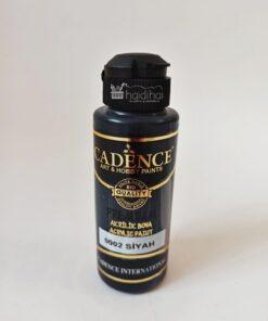 Vopsea acrilică - negru - Black - CADENCE - 120 ml