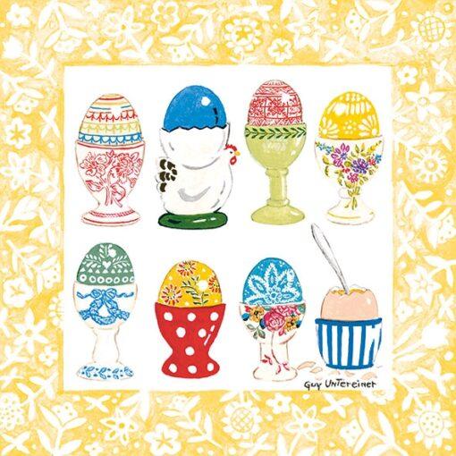 Șervețel – Eggs In Cup Yellow – 33×33 cm 1