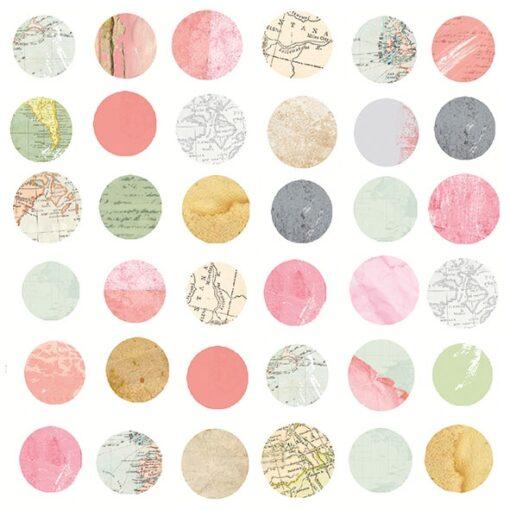 Șervețel – Maps In Circles – 33×33 cm 1